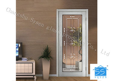 "Entry Door Decorative Panel Glass 22"" * 64"" / Custom Size Steel Frame Material"